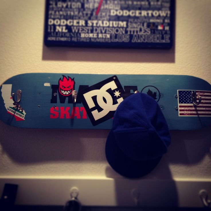 Diy Skateboard Hat Rack Coat Key Rack Pinterest