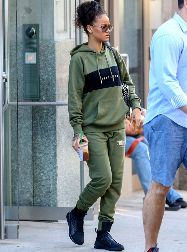 Rihanna's Latest Look Has Us Wanting to Rock a Sweatsuit, Stat from InStyle.com