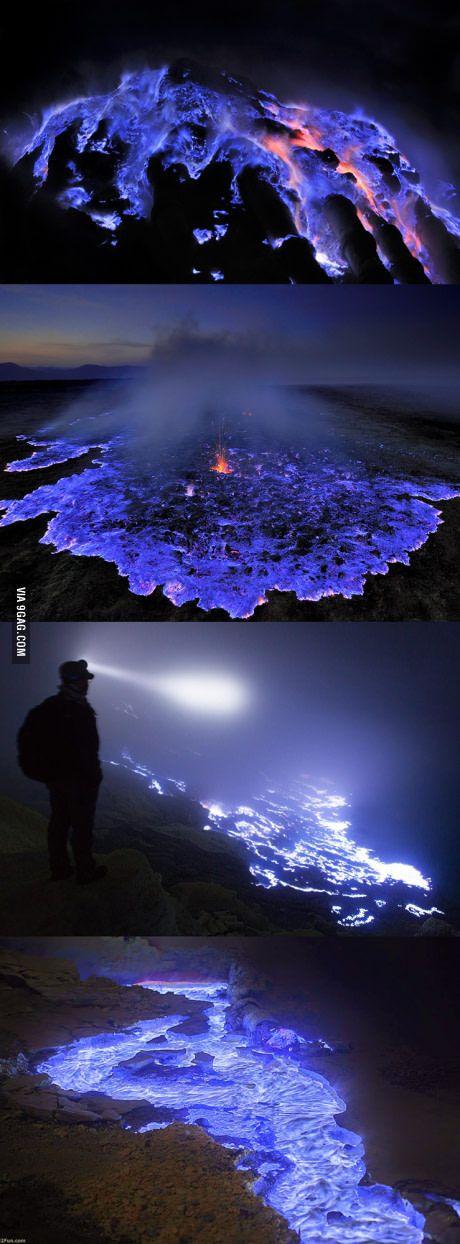 Blauer Vulkan in Kawah Ijen - Indonesien. Den passenden Koffer für eure Reise findet ihr bei uns: https://www.profibag.de/reisegepaeck/