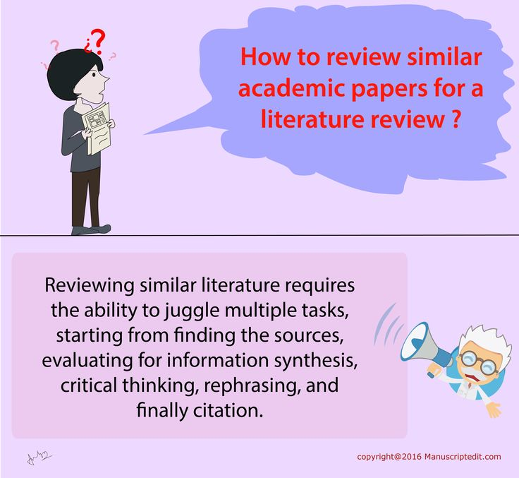 #‎Manuscriptedit‬ @ How to review similar academic ‪#‎papers‬ for a literature ‪#‎review‬?  Reviewing similar ‪#‎literature‬ requires the ability to juggle multiple tasks, starting from finding the sources, evaluating for information synthesis, critical thinking, rephrasing, and finally citation.  #Manuscriptedit ‪#‎post‬ : bit.ly/27ue73h
