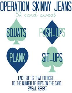 Deck of Cards Workout. Tried this before and It's so awesome! Going to try it again after I have my baby!
