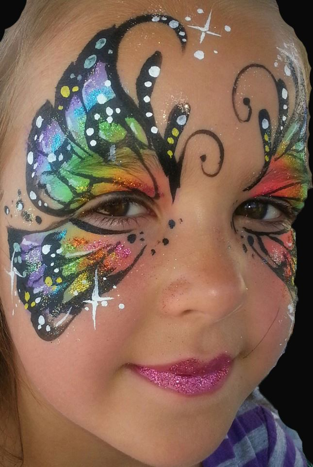 Face Painting Colorful Butterfly