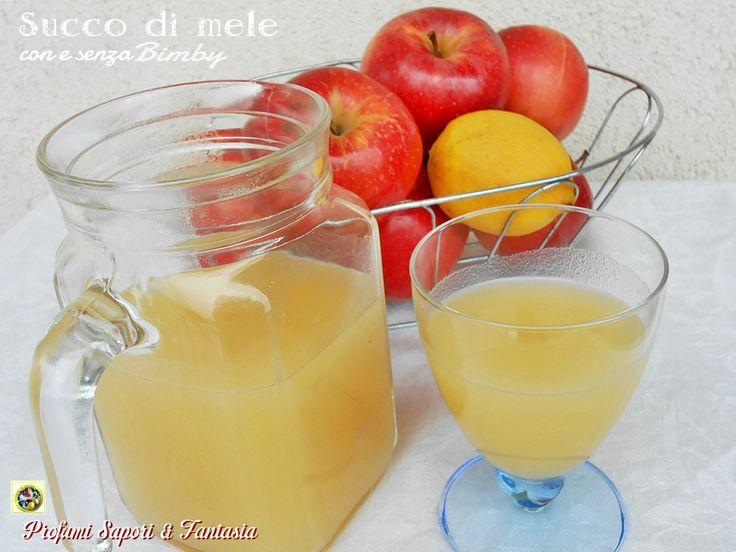 Succo di mele fatto in casa con e senza Bimby,ve lo consiglio per i vostri bambini e non solo. Buono e genuino potrete utilizzarlo in tante preparazioni.