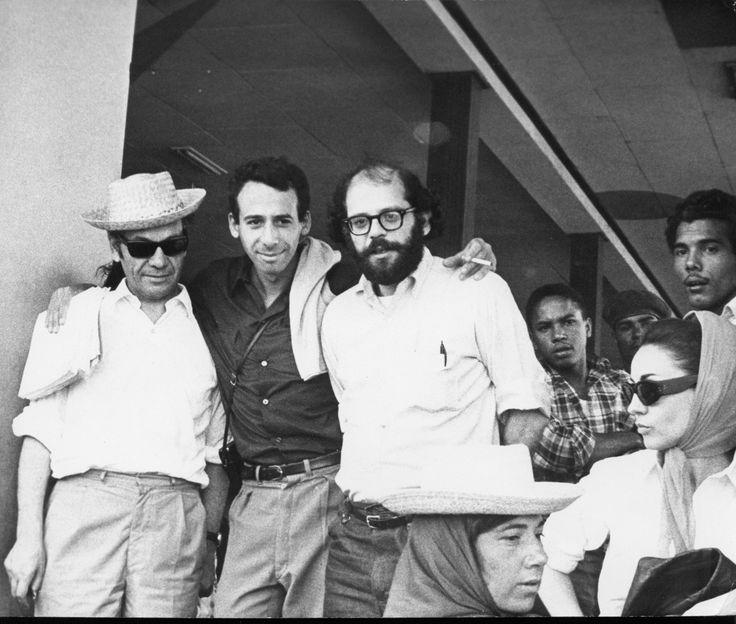 Nicanor Parra,Miguel Grinberg y Allen Ginsberg (La Habana - febrero 1965)