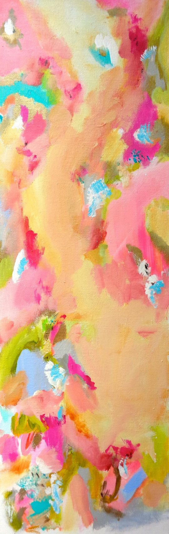 Abstract floral painting wall botanical susan skelley for Cute abstract art