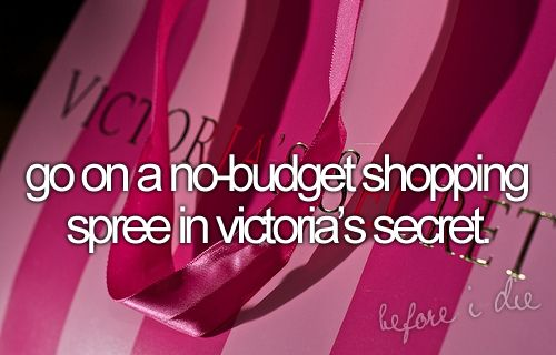 Yes, yes, yes.: Bucketlist, No Budget Shopping, Dream, Victoria Secret, Bucket List 3, Victoria S Secret, Bucket Lists, Shopping Spree