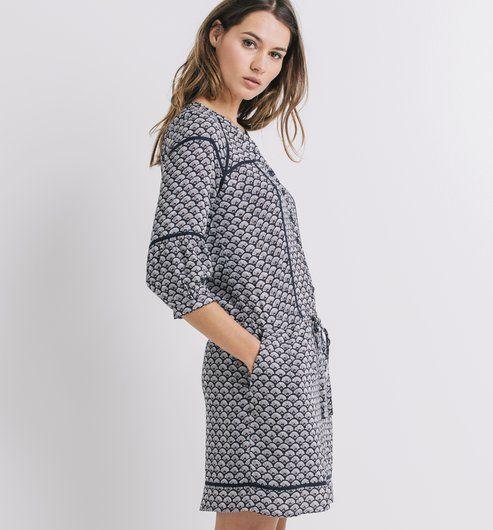 Robe+imprimée+Femme