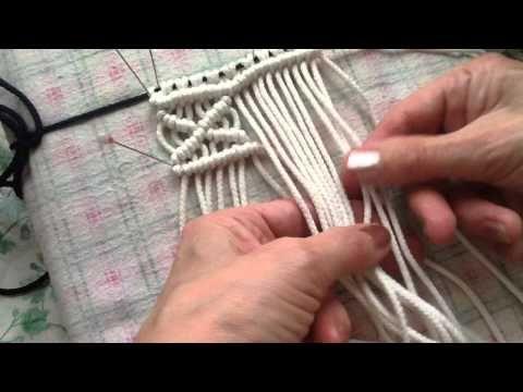 Macrame basic knots PART 2 of 10 / Макраме базовые узлы УРОК 2 из 10 - YouTube