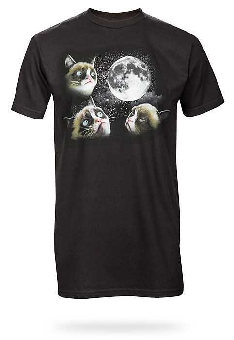 Three cats grumbling at the moon. Find this Pin and more on Geeky T-Shirts  ...