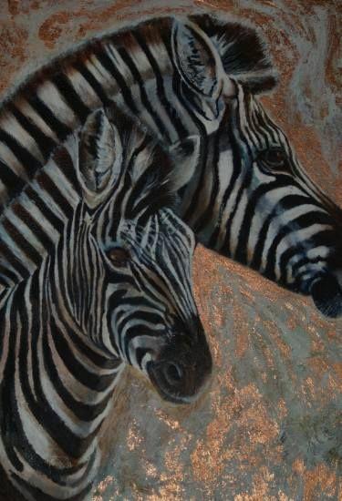 "Saatchi Art Artist Rene Boast; Painting, ""Copper Zebra"" #art"