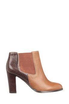 Mellow Yellow -  - Boots à talons camel cuir Tazia
