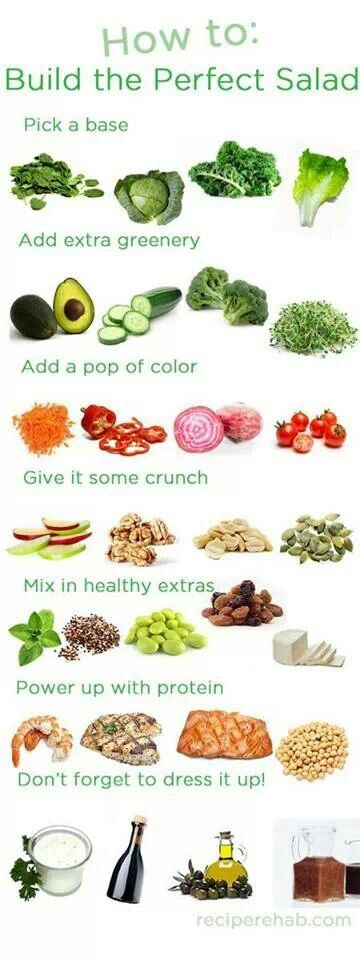Keep your salads exciting with some of these suggestions for all sorts of mix and match possibilities.