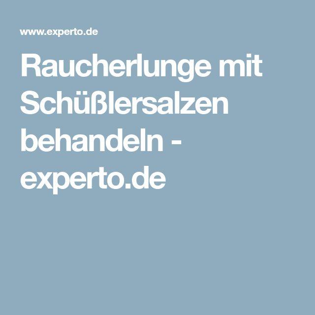 Raucherlunge mit Schüßlersalzen behandeln - experto.de