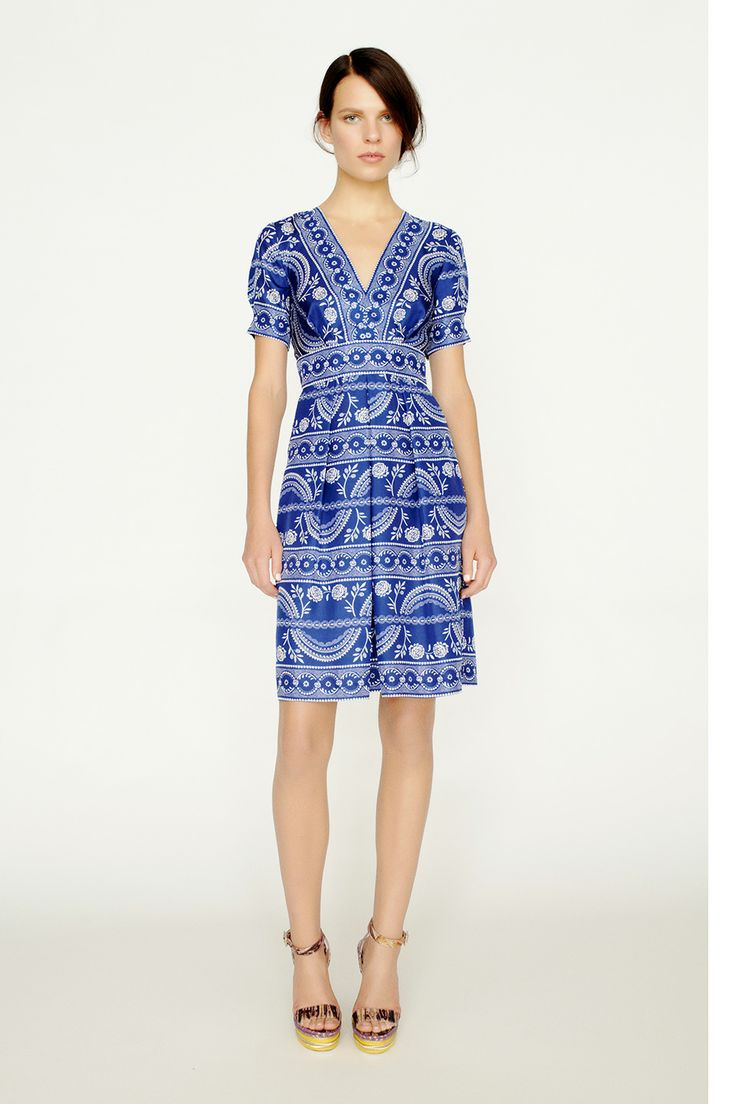 collette by Collette Dinnigan V Neck Short Sleeve Silk Dress