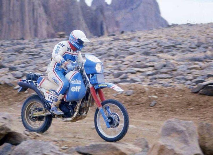 Hubert #Auriol Ligier #Cagiva 1985 Paris #Dakar