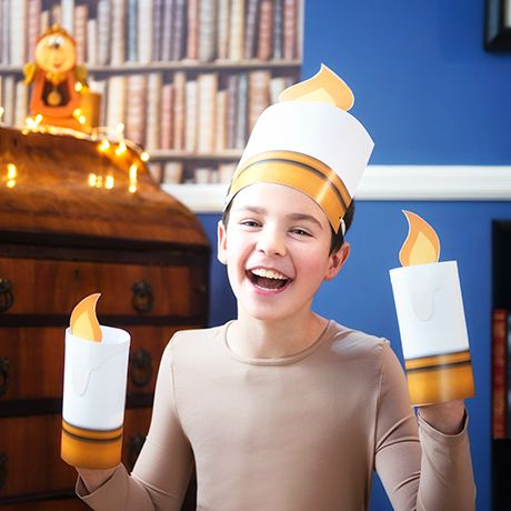 Want to dress up as the enchanted candelabra Lumiere? Be our guest! Light up the room with this super simple Lumiere costume – perfect as a last minute fancy dress costume or for your kids to put on Beauty and the Beast inspired play. Explore the enchanting Beauty & The Beast range at Disney Store …