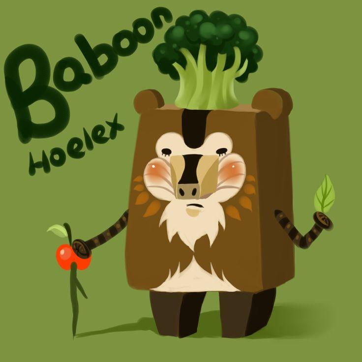 "【DODO夢方塊Baboon】""花椰菜狒狒""(狒狒) By Hoelex浩理斯  花椰菜蜜之森林住著個性固執的長老,他可用樹葉與蘋果杖占卜。 水梨蜜蜂小工兵為森林採蜜者,也是這森林的守護天使。  DODO ZOO夢方塊相關連結>>>  http://blog.yam.com/hoelex/article/28911311"