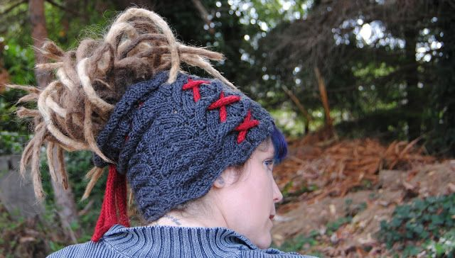 Attaining The Proverb, Free knitting pattern for dreadlocks tube hat. Dread...