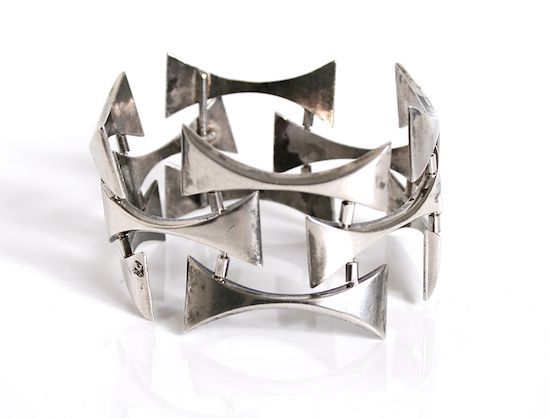 Rare Sterling Silver bracelet designed by Grete Prytz Kittelsen for Tostrup Norway c.1950