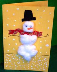 Cotton Ball Holiday Cards: Christmas Arts & Crafts Activity (Pre-K - 8th Grade) - FamilyEducation.com
