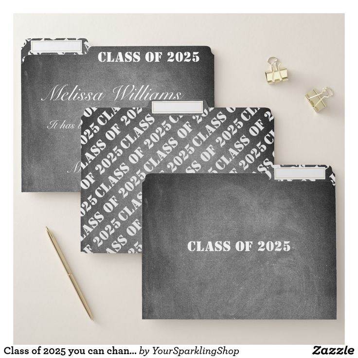 Class of 2025 you can change all text Chalkboard