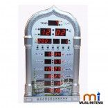 ■  1150cities azan times Programmed and world times ■  5 times automatic Makkah azan ■  Complete azan for all prayers (with volume control) ■  Prayer times for most cities around the world ■  Hijri and Gregorian calendars ■  With charger battery for saving program when power off ■  Daylight saving time option ■  Product Size : 40.5*24*5.6 (cm) Find out more from here www.muslimitems.com