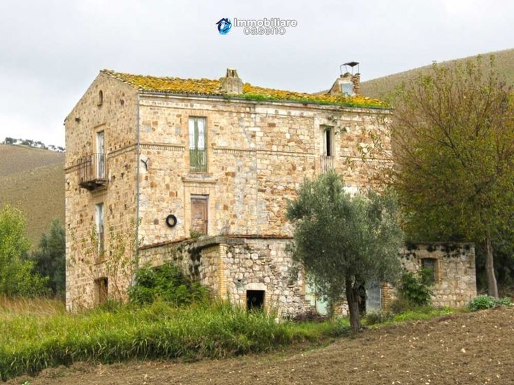 http://immobiliarecaserio.com/Rustic_country_house_for_sale_in_Atessa_Abruzzo_420.html  Large country stone building composed of two adjacent houses. The property is located in a beautiful natural setting in the hills, in a completely private location but not far from the town and the Adriatic coast. Ideal for a project of B&B or farm.