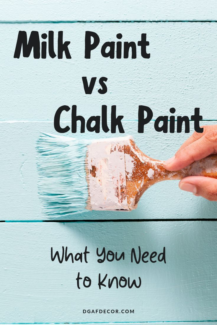 Chalk Paint Vs. Milk Paint (Which Should You Use?) (With ...