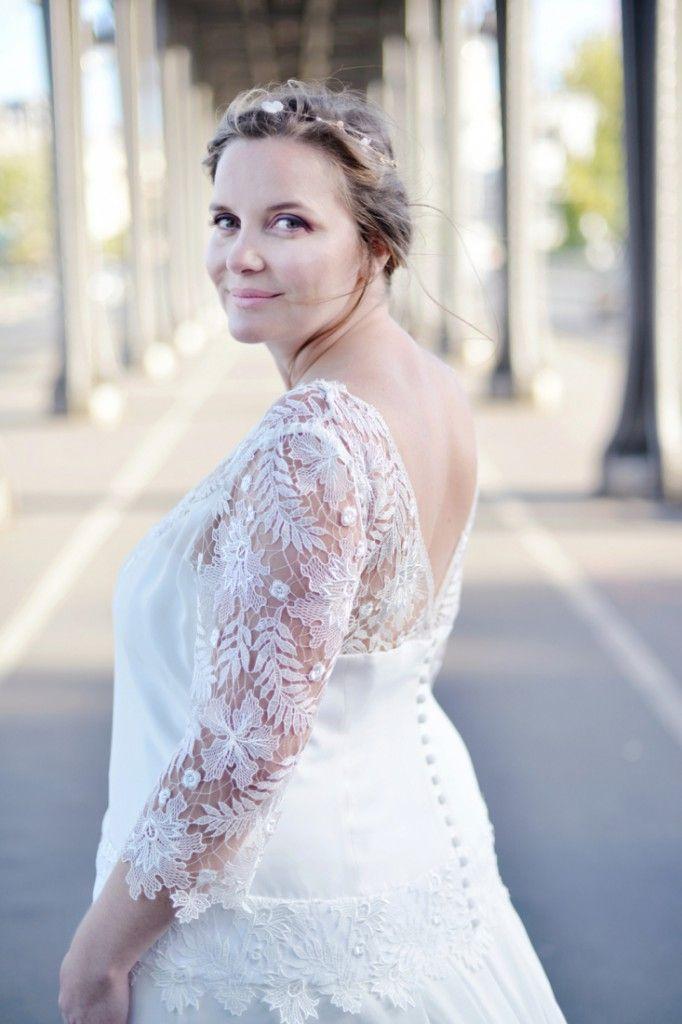 Les robes de mariée pour femme ronde Curvy by Stéphanie Wolff ...