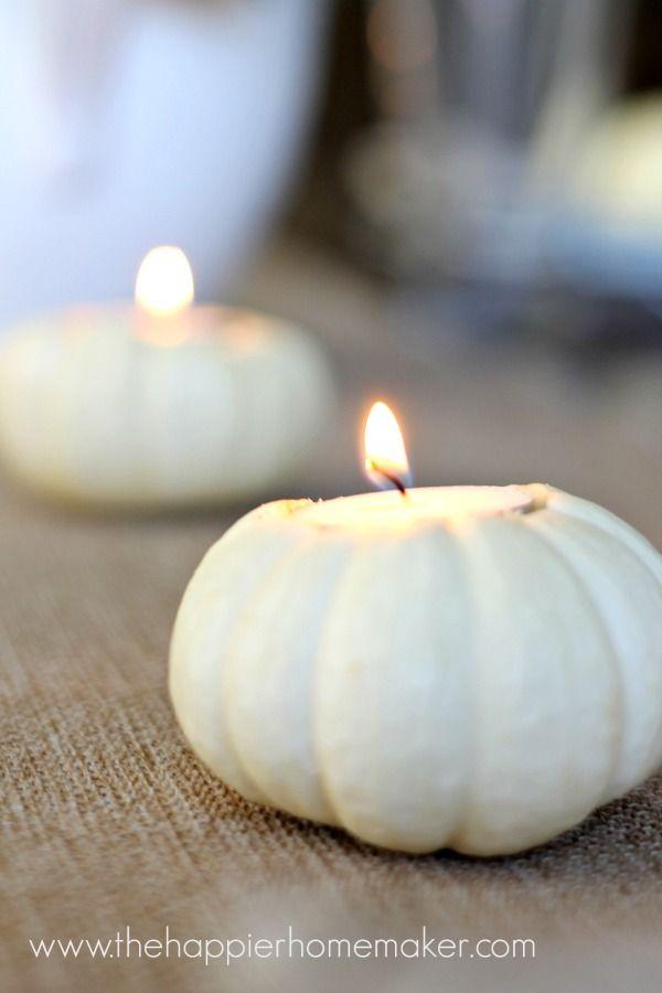 How to make your own pumpkin votive holder