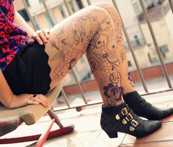 Populaire Les 25 meilleures idées de la catégorie Collant tatouage sur  XU38