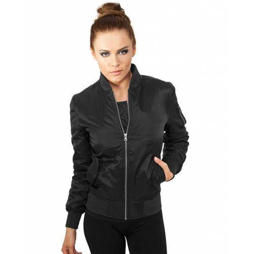 Dames basic bomber jas zwart