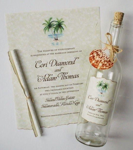 Noiva com Classe: Convites de Casamento na Praia - Marítimo: modelos