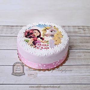 83BD. Fototort Mia i Ja: dziewczynka i jednorożec. Photo-cake Mia and Me, edible prints and photo for your cakes and cupcakes.