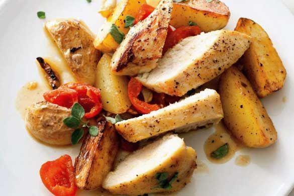 Piept de pui picant cu cartofi