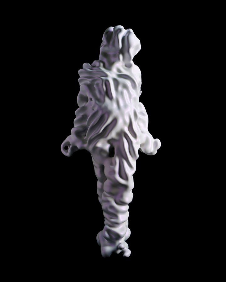 """By Kohei Nawa. """"Trans"""" is a series of human silhouettes produced from 3D scanning, which seems to be all the rage now, combined with texture mapping to create abstract, organism-like forms."""