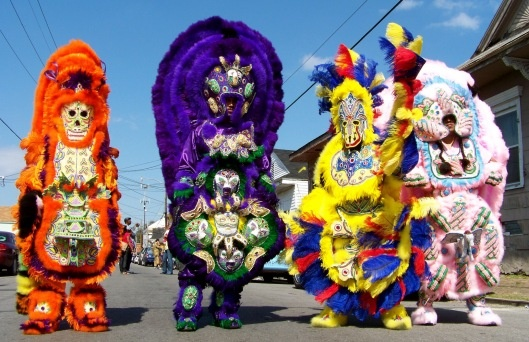 Traditional Mardi Gras Indians