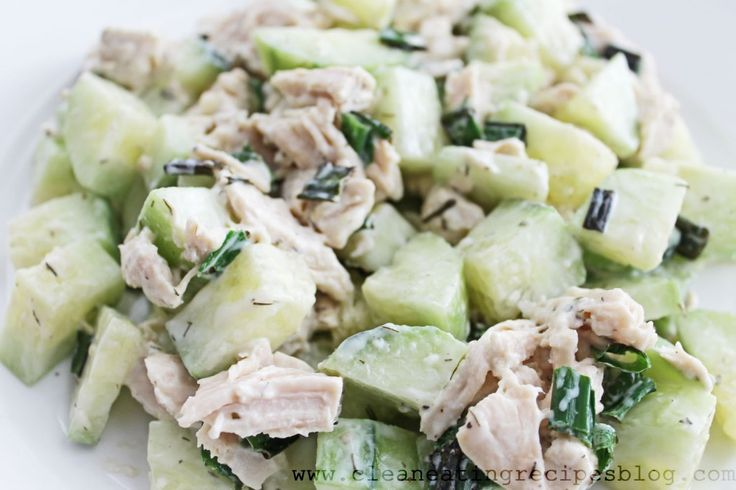 Clean Eating Recipe  Cucumber and Chicken Salad | Clean Eating Recipes