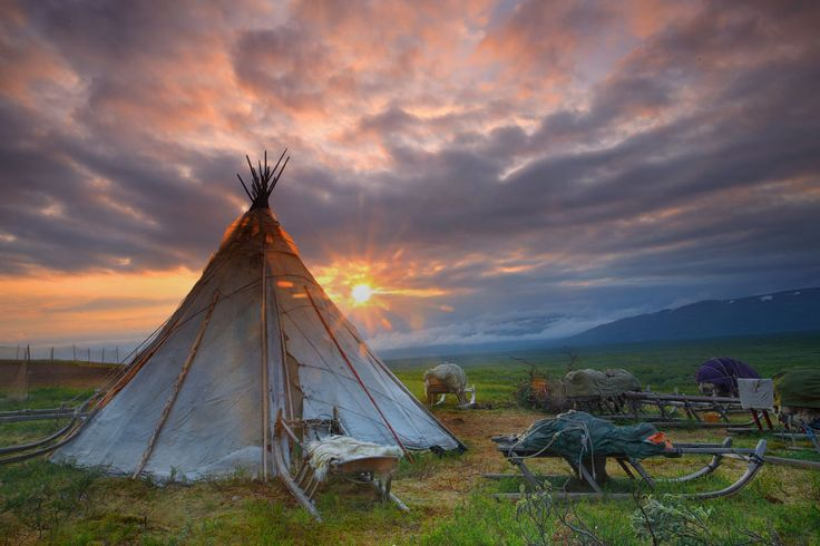 The Chum Shelters of the Nenet People of Siberia in Northwest Russia w pictures..