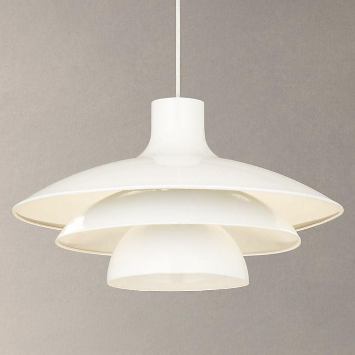 House By John Lewis Harvey Pendant Light, White