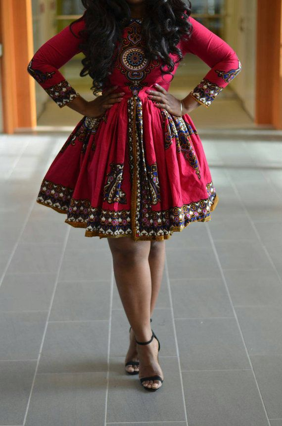 Ankara flowery dress