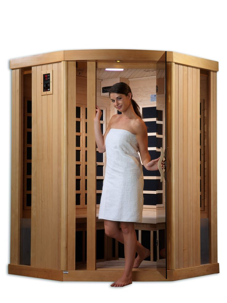 Golden Designs Saunas 3 person sauna is designed for ease of use and is an outstanding value. Assembly is a snap and takes less than 1 hour. Enjoy the convenience of operating a Golden Designs Saunas with our dual (interior and exterior) soft touch control panel and LED display featuring sauna temperature and time functions. Play your favorite music through the saunas built in FM CD Radio with MP3 auxiliary connection with speakers. The sauna plugs into a dedicated 20 amp 110 volt outlet…