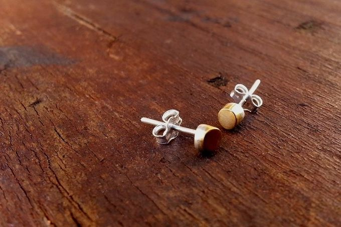Brass Cap Studs by a ring to it for sale on http://hellopretty.co.za