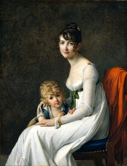 Marie-Guillemine Benoist - Madame Desbassayns de Richemont (Jeanne Eglé Mourgue) et son fils, Eugène