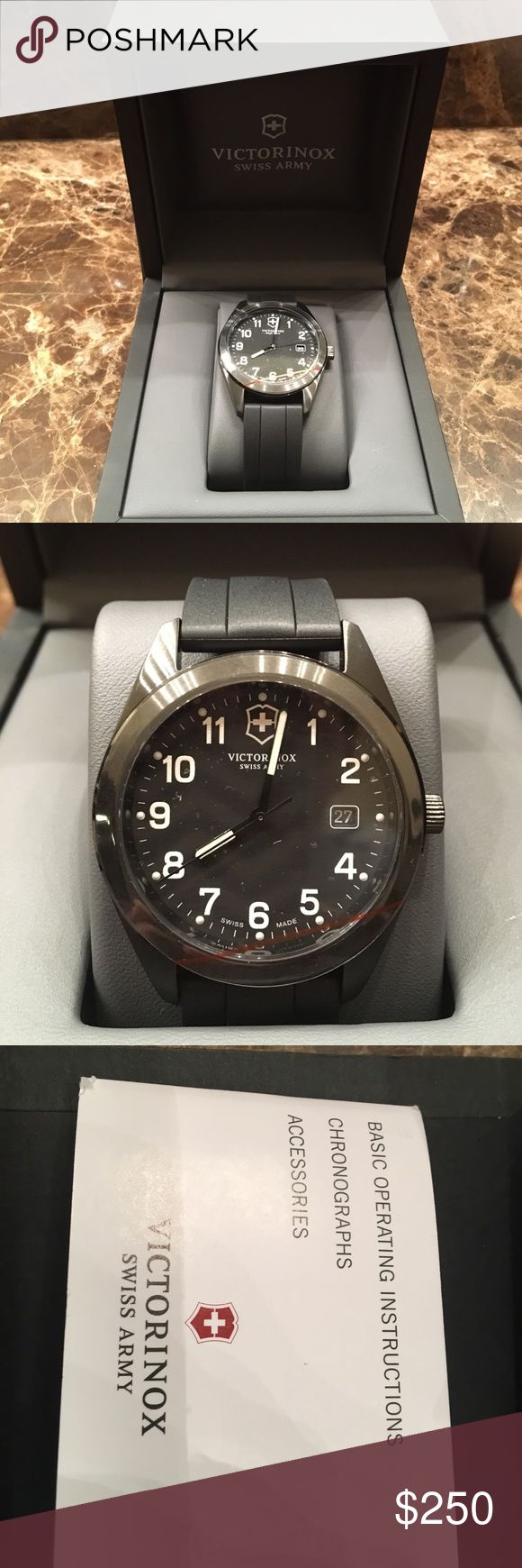 Victorinox Swiss Army Watch Black Swiss Army Watch, black adjustable strap. Never worn. Brand new. Received as a gift. Swiss Army Accessories Watches
