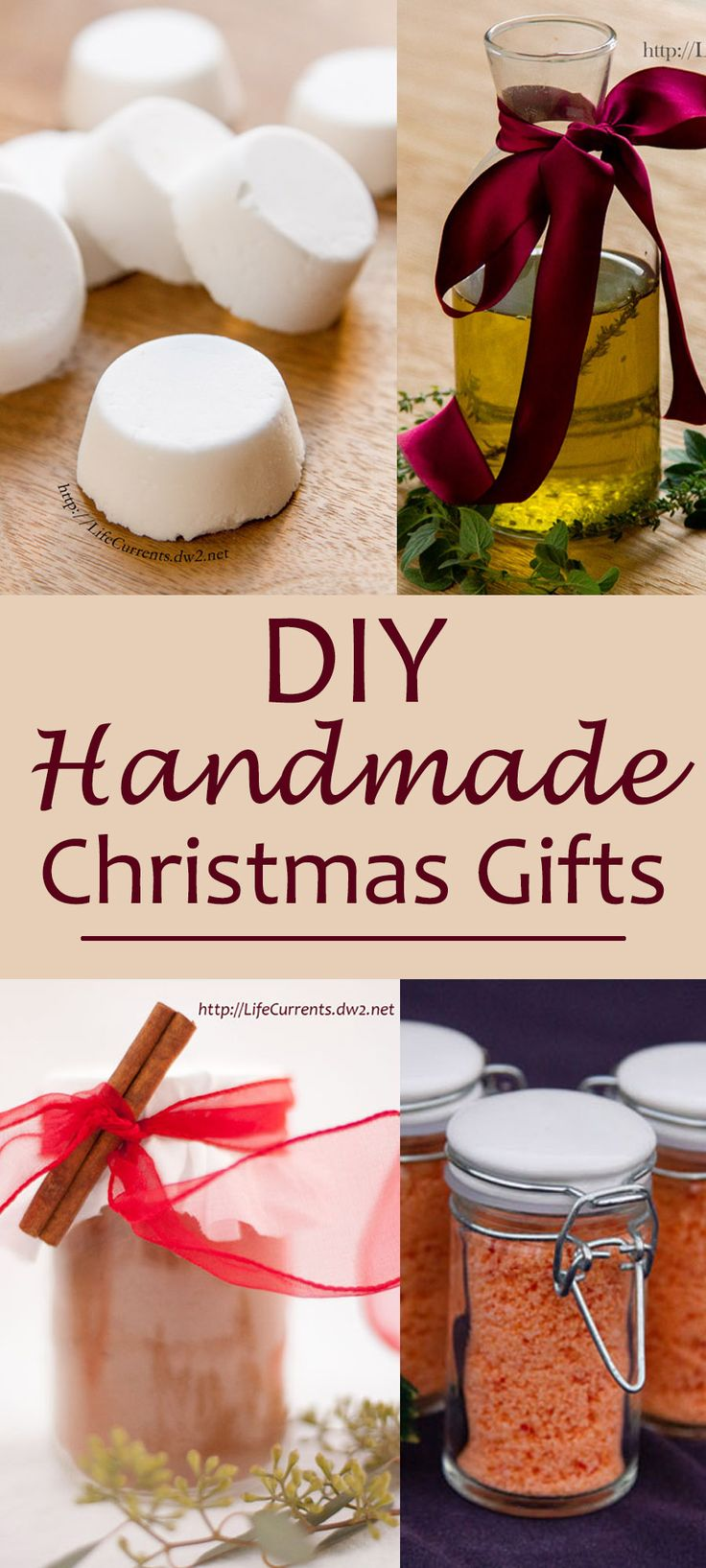 DIY Unique and Uncommon Handmade Christmas Gifts - most can be made at the last minute for all your gift giving needs, just tie them with a pretty ribbon
