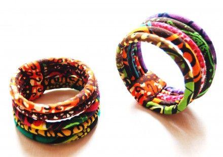 Bracelet ethnique Massai en wax / tissu africain : Bracelet par kumbhaka sur ALittleMarket
