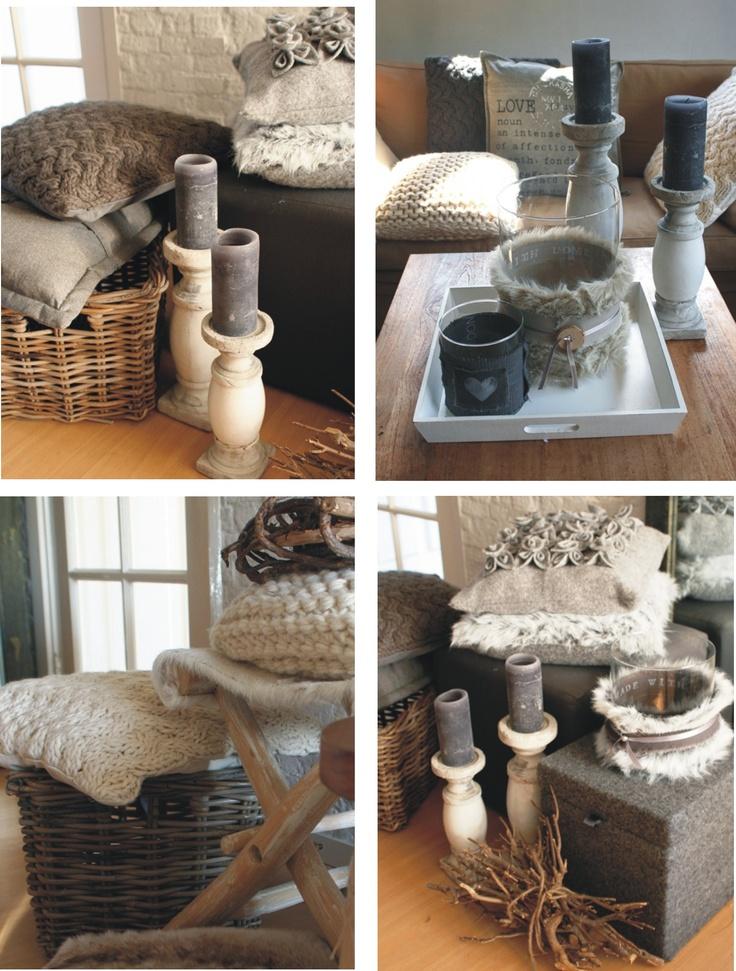 moodboard winter warme woonaccessoires van thuis met Moon - vergrijsde tinten met warm hout