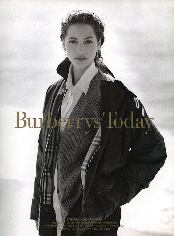 Young Christy Turlington, old-school Burberry.