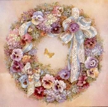 Lena Liu Wreath of Pansies
